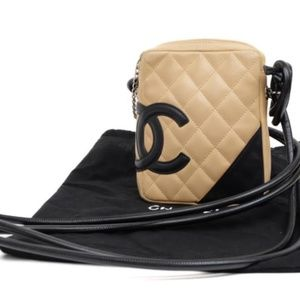 Chanel CC Cambon Ligne Quilted Bicolor Cross Body